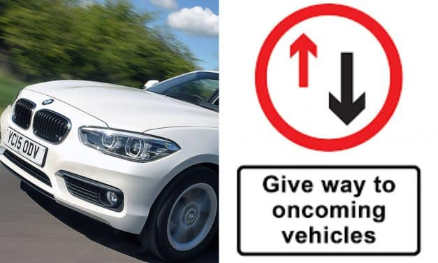 Government confirms 'Give Way To Oncoming Vehicles' sign doesn't apply to BMWs