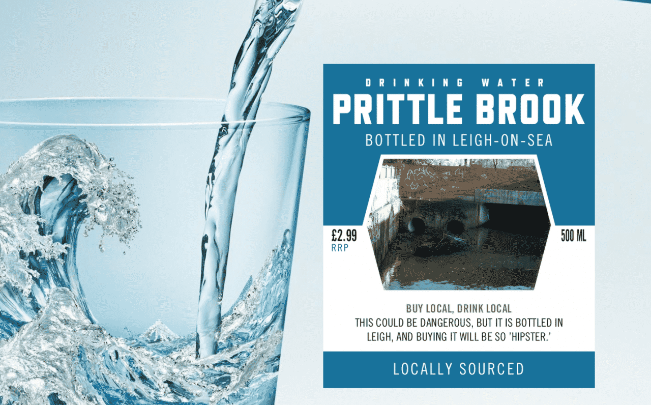 Prittle Brook Water goes on sale in local shops.
