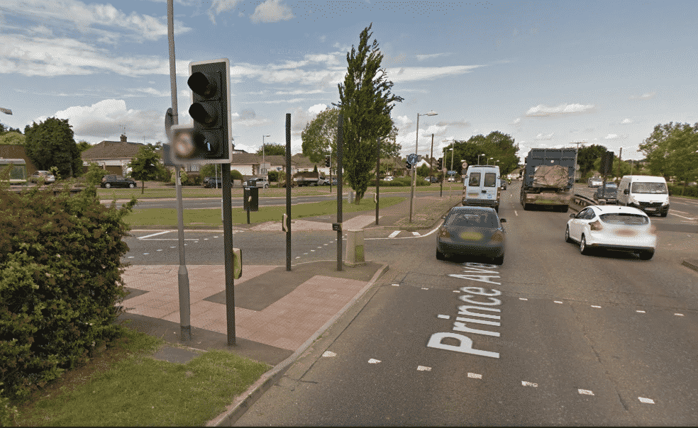 Britain's first PAY AS YOU USE left turn to open at Southbourne Grove / A127 junction.