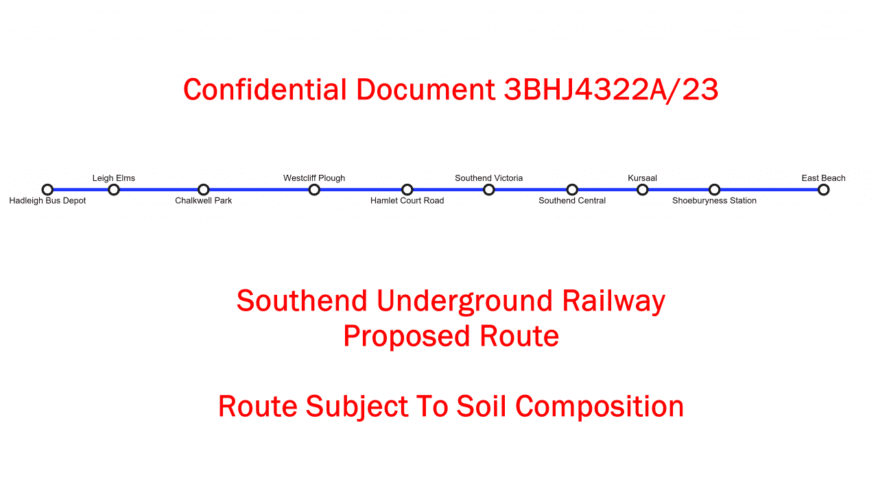 Southend UNDERGROUND railway planned to ease traffic concerns