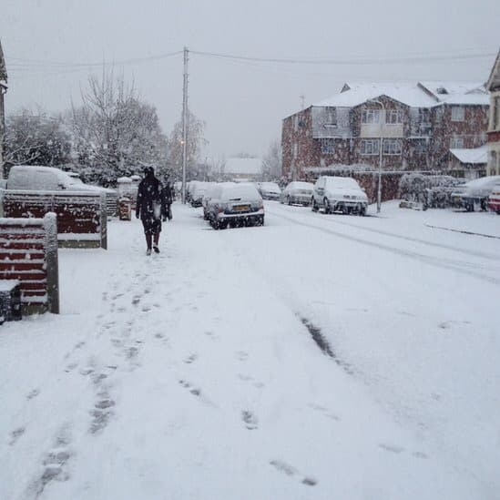 YELLOW SNOW WARNING is declared in Essex