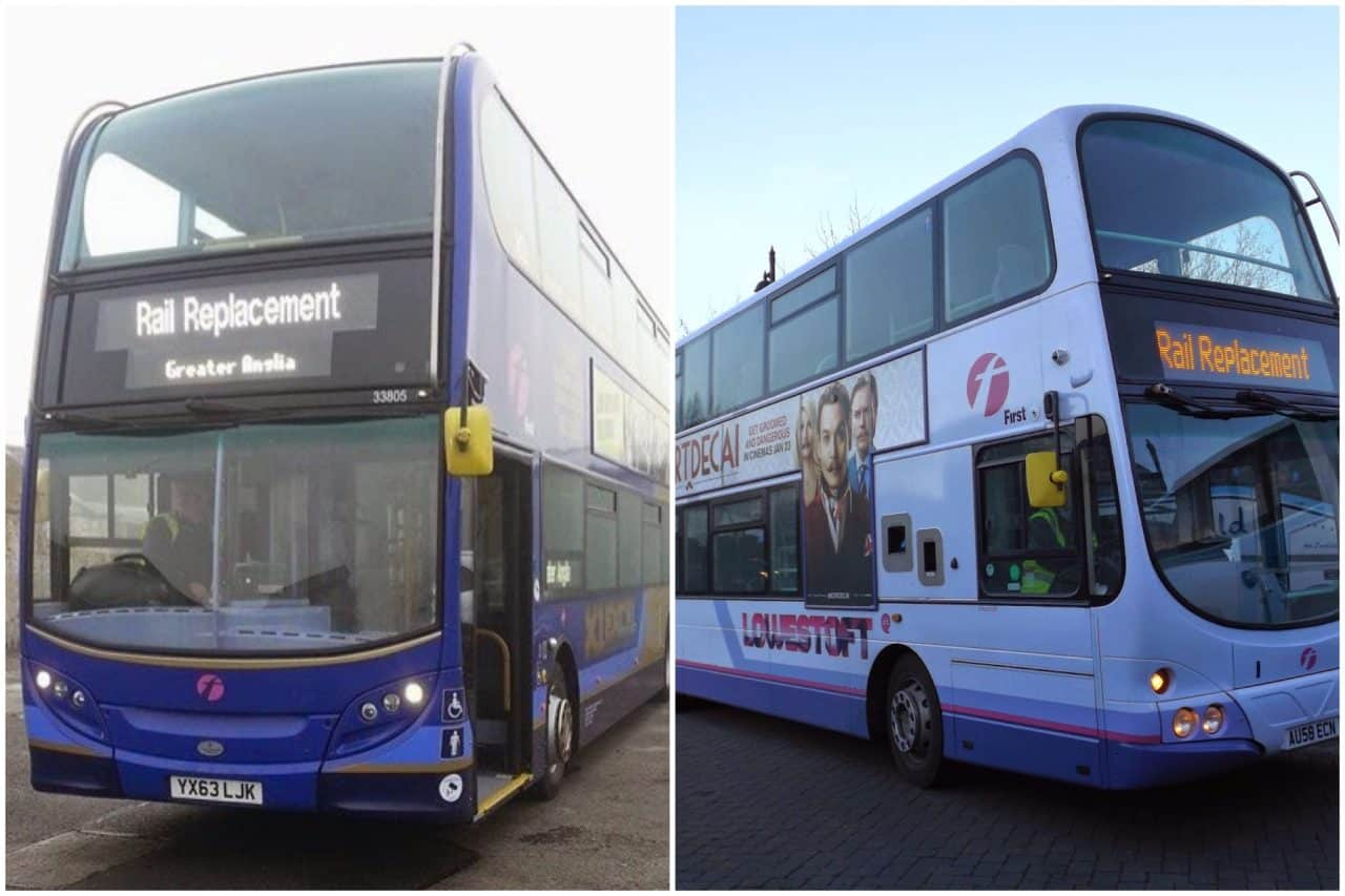 GREATER ANGLIA announces extensive BUS REPLACEMENT SERVICES from Monday