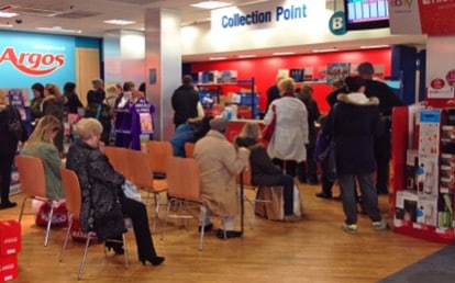 Crowd gathers in Southend Argos to watch order counter reset to 001