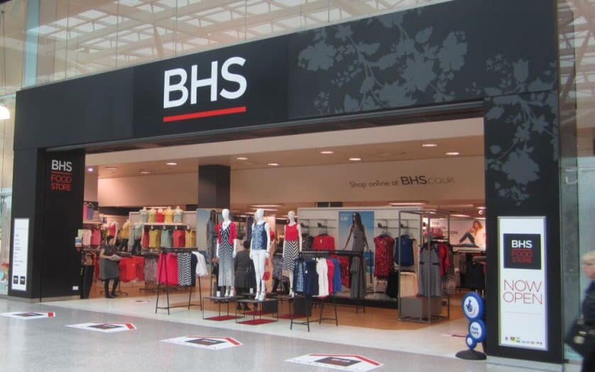 Government BHS bail-out WITHDRAWN after ministers realise that the 'B' doesn't stand for 'Bank'