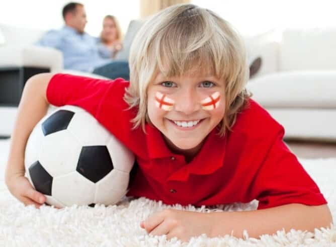 8-year-old England fan BEGS PARENTS to put him to bed