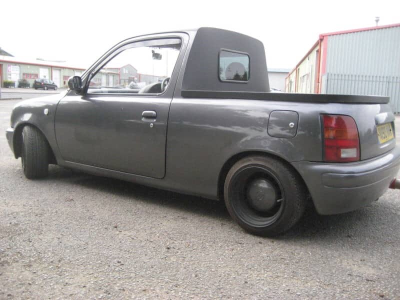 This guy converted his Nissan Micra into a PICKUP TRUCK