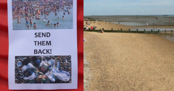 RACISM STORM as 'SEND THEM BACK' posters appear on Southend Seafront
