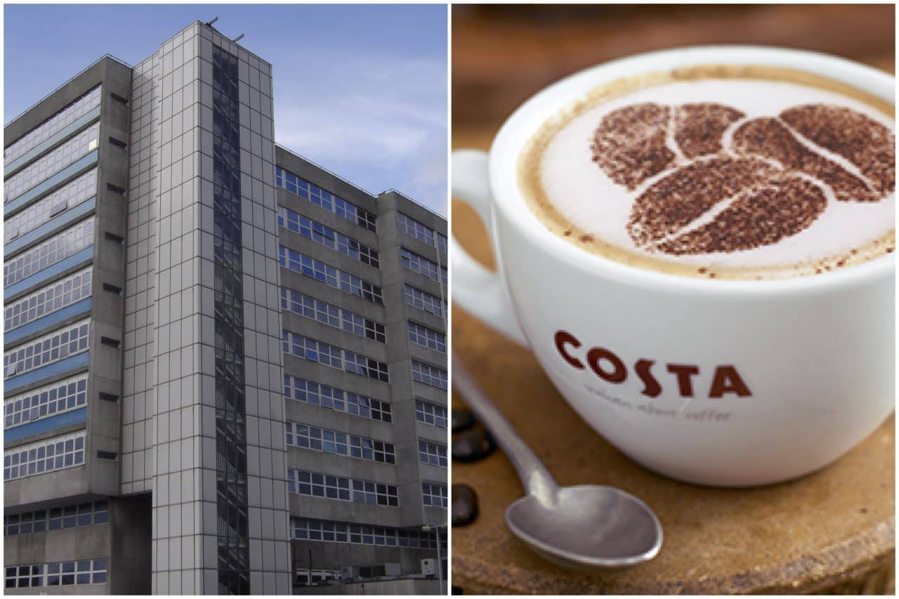 Hospital plans to demolish cancer and heart units and extend COSTA COFFEE