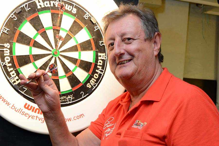 REAL MEN get pissed up and throw pointy arrows at a piece of cork, says sporting legend