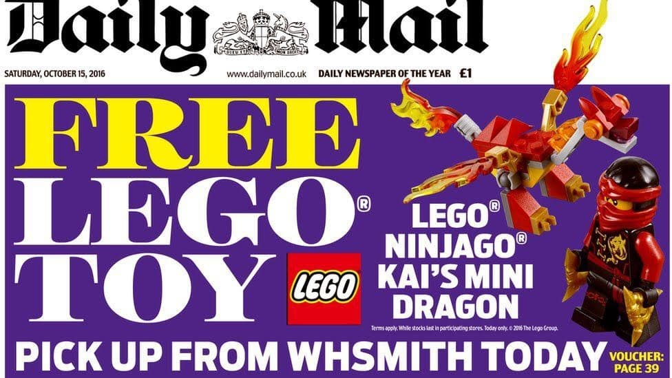 Daily Mail reveals that LEGO CAUSES CANCER