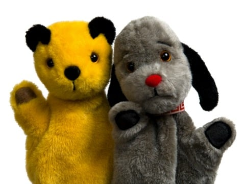 Archive footage shows Sooty and Sweep doing NAZI SALUTE