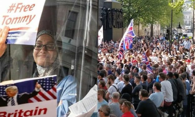 'We're not racist f*ckwits' say Free Tommy protestors attacking bus driven by Muslim