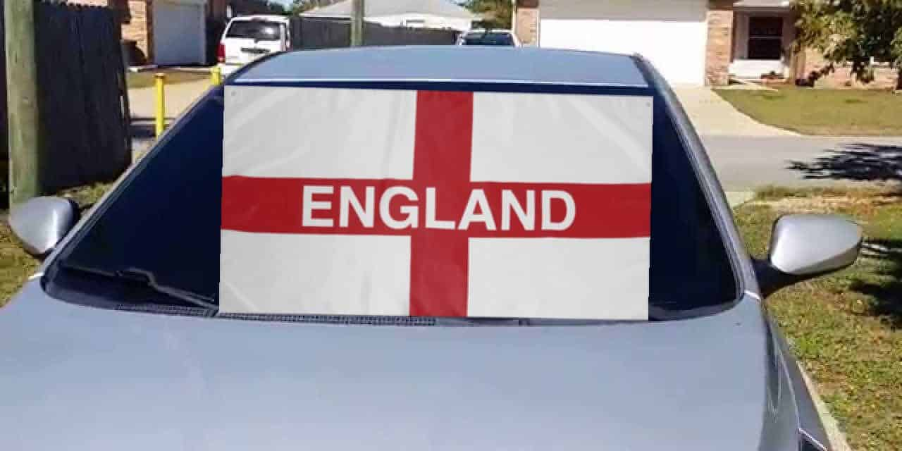ANGER after police stop car on M25 and order driver to remove England flag